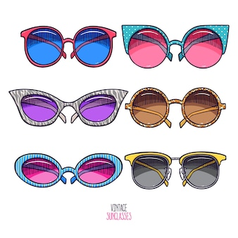 Zestaw vintage okulary przeciwsłoneczne