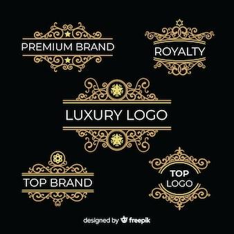 Zestaw vintage ozdobne logo