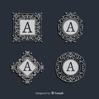 Zestaw vintage ozdobnych logo
