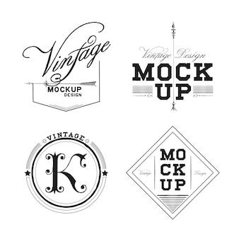 Zestaw vintage projektowania makieta wektor logo