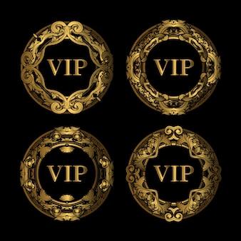 Zestaw vip golden frame luxury