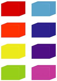 Zestaw w kształcie kwadratu w różnych kolorach