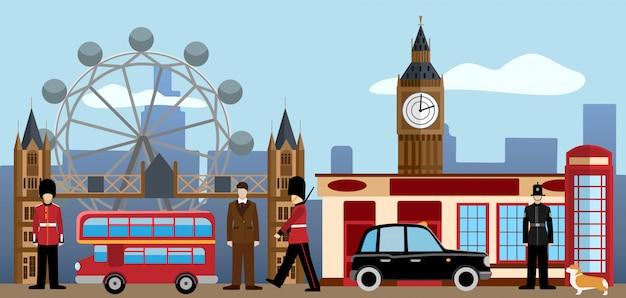Zestaw w londynie i wielkiej brytanii.