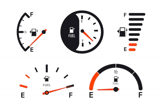 Zestaw wag wskaźnika poziomu paliwa.