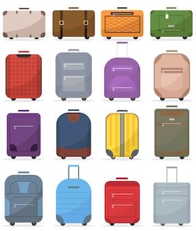 Zestaw walizek do ilustracji bagażu