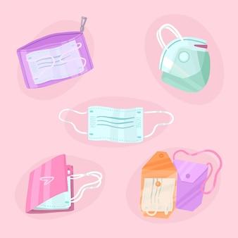Zestaw walizek do przechowywania maski na twarz