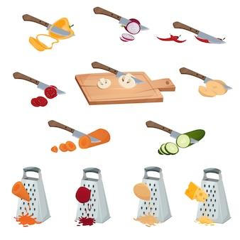 Zestaw warzyw przygotowania