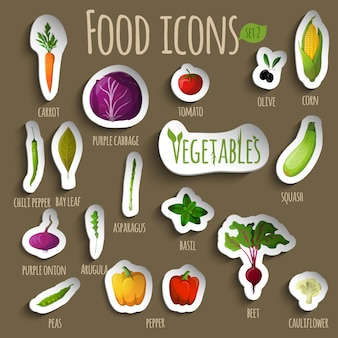 Zestaw warzyw spożywczych