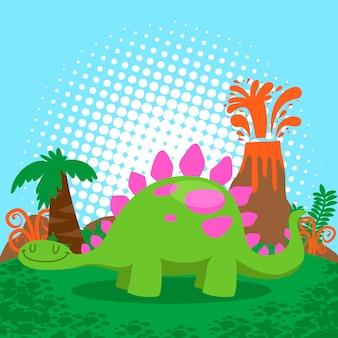 Zestaw wektor ładny dinozaurów