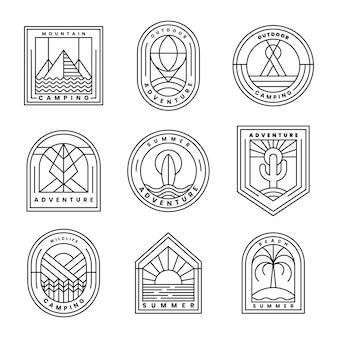 Zestaw wektor logo przygoda