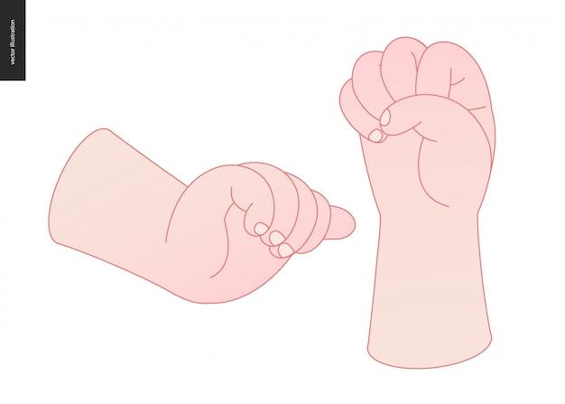 Zestaw wektor ręce