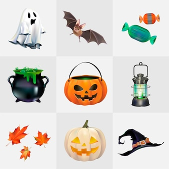 Zestaw wektora Halloween