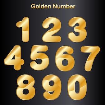 Zestaw wektora złotej liczby