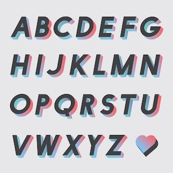 Zestaw wektorów alfabetu