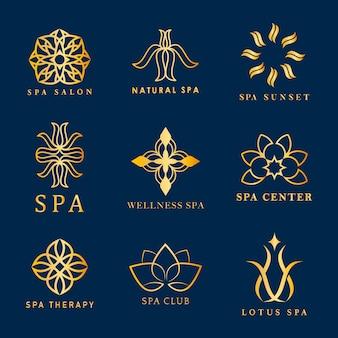 Zestaw wektorów logo spa