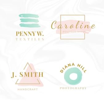 Zestaw wektorów projektowania logo uroda i moda