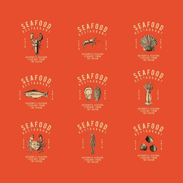 Zestaw wektorów projektowania logo żywności