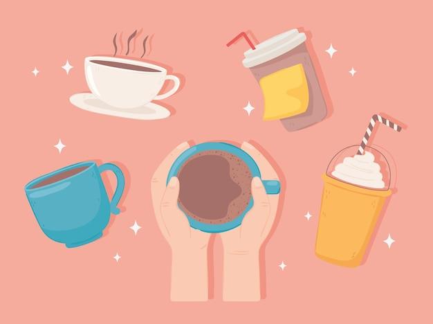 Zestaw wektorów przerwy na kawę