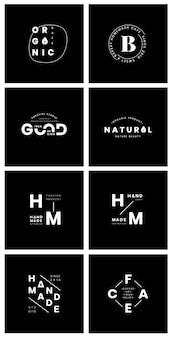 Zestaw wektorów znaczek logo