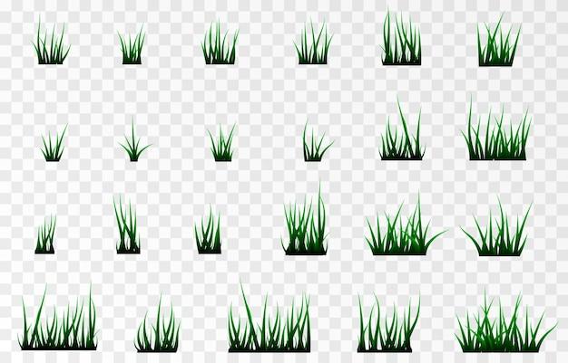 Zestaw wiązek trawy trawa trawnik trawa png