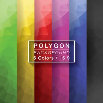 Zestaw wielokątów 6 kolorów