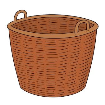 Zestaw wiklinowy koszyk