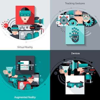 Zestaw wirtualnej rzeczywistości rozszerzonej