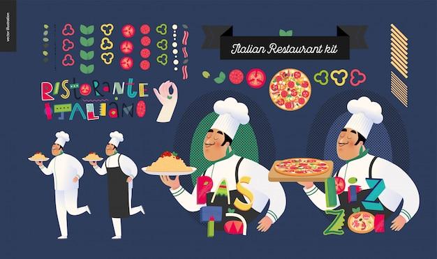 Zestaw włoskiej restauracji