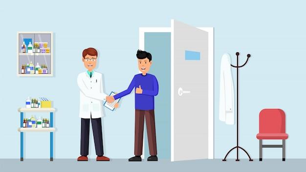 Zestaw wnętrza kliniki stomatologicznej