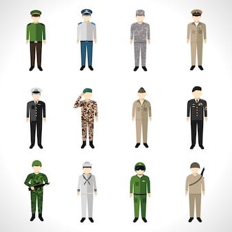 Zestaw wojskowych awatarów