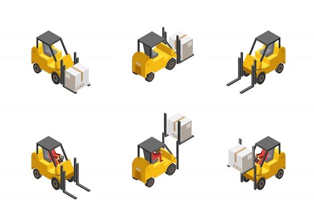 Zestaw wózków widłowych