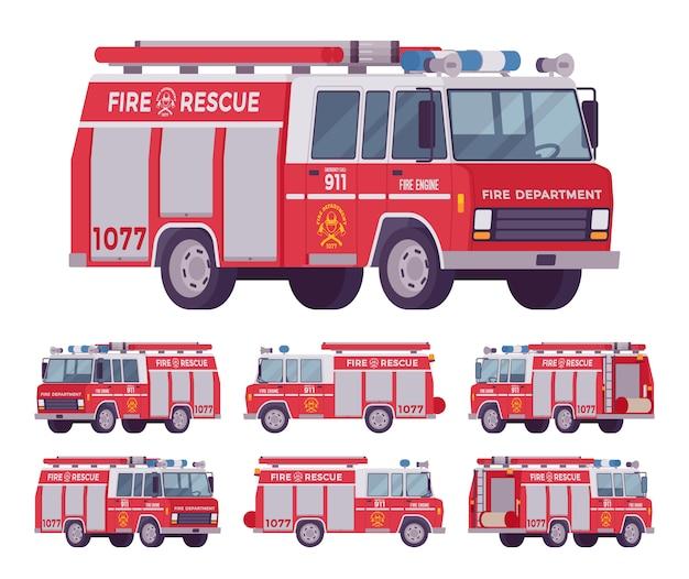 Zestaw wozu strażackiego