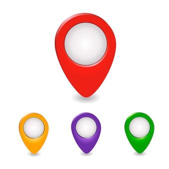 Zestaw wskaźników na mapie