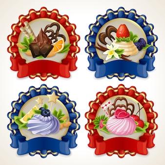 Zestaw wstążek słodyczy