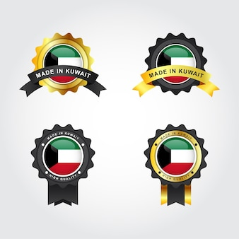 Zestaw wykonany w kuwejcie z szablonem etykiety z emblematem