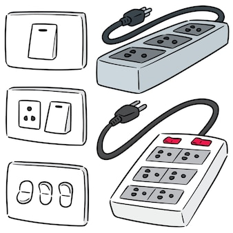 Zestaw wyłącznika elektrycznego i wtyczki