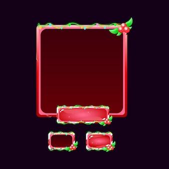 Zestaw wyskakującego przycisku gui christmas