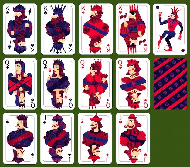 Zestaw wysokich kart do gry w pokera