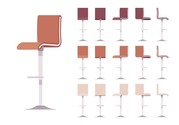 Zestaw wysokich stołków barowych