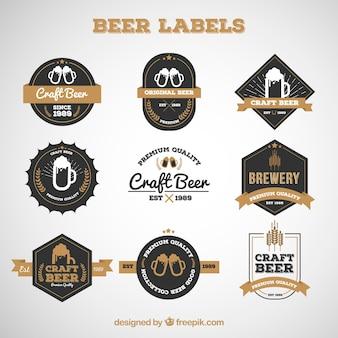 Zestaw wysokiej jakości piwa etykiet
