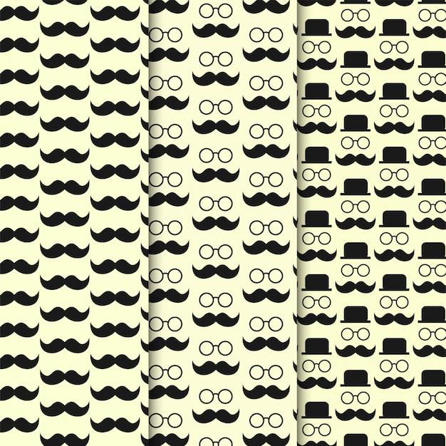 Zestaw wzór człowieka wąsy