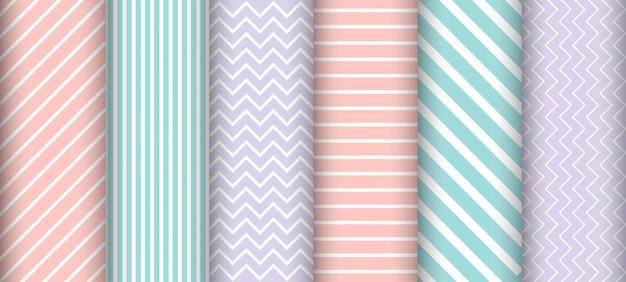 Zestaw wzór linii pastelowych