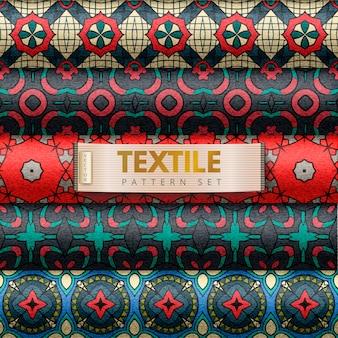 Zestaw wzorców tekstylnych