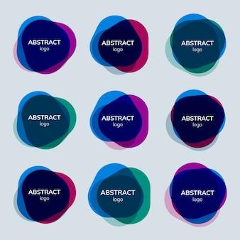 Zestaw wzorów abstrakcyjnych odznak