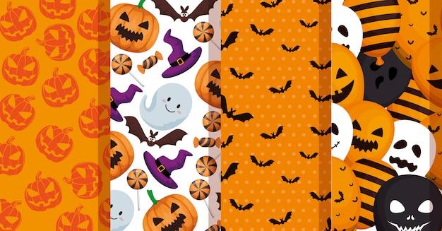 Zestaw wzorów dekoracji halloween