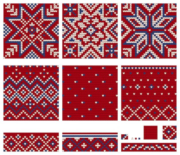 Zestaw wzorów dziewiarskich norwegian star