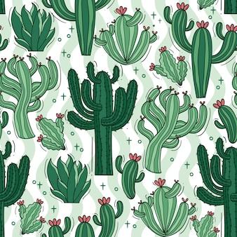 Zestaw wzorów kaktusów