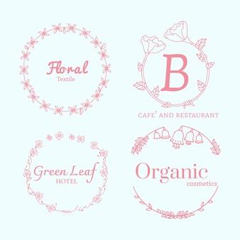 Zestaw wzorów kwiatowych logo