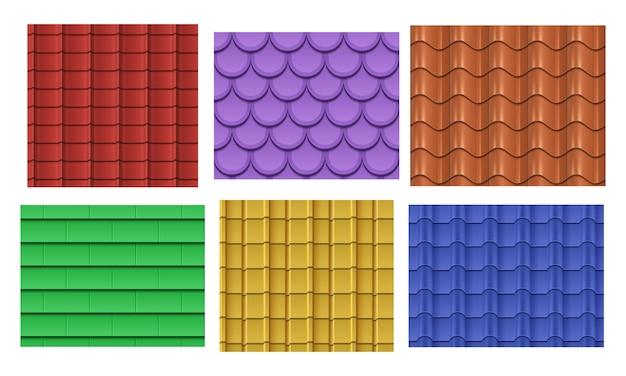 Zestaw wzorów łupków dachowych