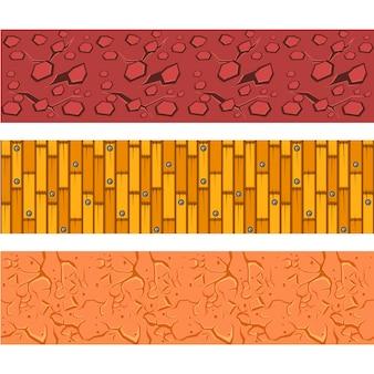 Zestaw wzorów mgły, podłóg laminowanych i gliny